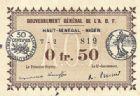 Photo numismatique  ARCHIVES VENTE 2012 PAPIER MONNAIE COLONIES - Gouvernement Général de l'A.O.F. HAUT-SÉNÉGAL-NIGER 831- 0fr.50, décret du 11 février 1917.