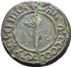 Photo numismatique  ARCHIVES VENTE 2012 POIDS DE VILLE RODEZ (Aveyron)  828- Poids d'une livre, émission de 1520.