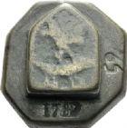 Photo numismatique  ARCHIVES VENTE 2012 POIDS DE VILLE NÎMES (Gard)  825- Poids anépigraphe d'une demi-livre, émission des XVIIe-XVIIIe.