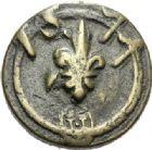 Photo numismatique  ARCHIVES VENTE 2012 POIDS DE VILLE MONTAUBAN (Tarn-et-Garonne)  821- Poids d'un quart de livre, émission de 1577.