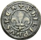 Photo numismatique  ARCHIVES VENTE 2012 POIDS DE VILLE LIMOUX (Aude)  820- Poids d'une once, émission de 1271-1285.