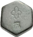 Photo numismatique  ARCHIVES VENTE 2012 POIDS DE VILLE LILLE (Nord)  816- Poids d'un quart de livre, XVIIIe.