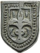Photo numismatique  ARCHIVES VENTE 2012 POIDS DE VILLE LILLE (Nord)  815- Poids d'une once, Xve-XVIe.