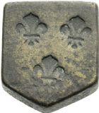 Photo numismatique  ARCHIVES VENTE 2012 POIDS DE VILLE LÉZIGNAN (Hautes-Pyrénées)  814- Poids anépigraphe d'une demi-once, XVIIe – XVIIIe.