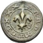 Photo numismatique  ARCHIVES VENTE 2012 POIDS DE VILLE CORDES (Tarn)  813- Poids d'un quart de livre, émission de 1380.