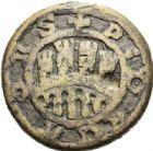 Photo numismatique  ARCHIVES VENTE 2012 POIDS DE VILLE CAHORS (Lot)  810- Poids d'une demi-livre, émission des XIIIe-XIVe.