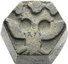 Photo numismatique  ARCHIVES VENTE 2012 POIDS DE VILLE ARDRES (Pas-de-Calais)  807- Poids d'une demi-livre, XVIIe - XVIIIe.