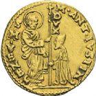 Photo numismatique  ARCHIVES VENTE 2012 MONNAIES DU MONDE ITALIE VENISE,  M. Ant. Giustinian (1684-1688) 797- Sequin d'or.