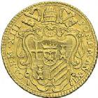 Photo numismatique  ARCHIVES VENTE 2012 MONNAIES DU MONDE ITALIE SAINT-SIEGE, Clément XIII (1758-1769) 784- Sequin d'or, frappé à Rome en 1769, an XI.