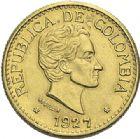 Photo numismatique  ARCHIVES VENTE 2012 MONNAIES DU MONDE COLOMBIE REPUBLIQUE (depuis 1830) 782- 5 pesos or, 1927.