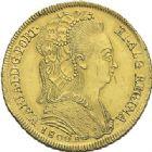 Photo numismatique  ARCHIVES VENTE 2012 MONNAIES DU MONDE BRESIL MARIE 1ère (1786-1805) 780- 6400 reis en or, frappée à Rio en 1800.