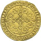 Photo numismatique  ARCHIVES VENTE 2012 MONNAIES DU MONDE BELGIQUE BRABANT, Jeanne et Wenceslas (1355-1383) 777- Pieter d'or frappé à Louvain.