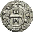 Photo numismatique  ARCHIVES VENTE 2012 BARONNIALES Comté de MELGUEIL Évêché de MAGUELONNE (XIIe-XIIIe siècles) 762- Deniers (2) et obole.