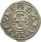 Photo numismatique  ARCHIVES VENTE 2012 BARONNIALES Seigneuries d'ANDUSE et de SAUVE BERTRAND l'Aîné (XIIe siècle) 758- Denier.