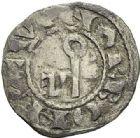 Photo numismatique  ARCHIVES VENTE 2012 BARONNIALES Vicomté de NARBONNE AIMERI III et l'archevêque ARNAUD AMAURY (1215-1225) 754- Denier.