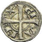 Photo numismatique  ARCHIVES VENTE 2012 BARONNIALES Comté de BARCELONE (Vers 1076-1196) 748- Denier imitant le denier de Toulouse au nom de Bertrand.