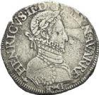 Photo numismatique  ARCHIVES VENTE 2012 BARONNIALES Seigneurie de BEARN HENRI II (1572-1589) 746- Franc, frappé en 1580 et *teston, frappé en 1576.