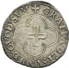 Photo numismatique  ARCHIVES VENTE 2012 BARONNIALES Seigneurie de BEARN HENRI Ier D'Albret, II de Navarre (1516-1555) 745- Douzain à la croisette.