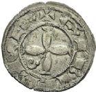 Photo numismatique  ARCHIVES VENTE 2012 BARONNIALES Vicomté d'ALBI ALBI-BONAFOS (XIIIe siècle) 734- (3ème quart du XIIIe siècle). Denier frappé au Château Neuf de Bonafos.