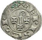 Photo numismatique  ARCHIVES VENTE 2012 BARONNIALES Evêché de CAHORS (Fin du XIIIe - début du XIVe siècle) 728- Denier.