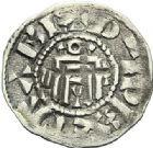 Photo numismatique  ARCHIVES VENTE 2012 BARONNIALES Vicomté d'ORLEANS Au nom d'HUGUES (vers 1010-1025) 726- Obole.