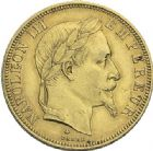 Photo numismatique  ARCHIVES VENTE 2012 MODERNES FRANÇAISES NAPOLEON III, empereur (2 décembre 1852-1er septembre 1870)  723- 50 francs or, Paris 1868.