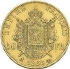 Photo numismatique  ARCHIVES VENTE 2012 MODERNES FRANÇAISES NAPOLEON III, empereur (2 décembre 1852-1er septembre 1870)  723- 50 francs or, Paris 1868.
