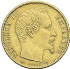 Photo numismatique  ARCHIVES VENTE 2012 MODERNES FRANÇAISES NAPOLEON III, empereur (2 décembre 1852-1er septembre 1870)  722- Lot de trois monnaies.