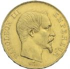 Photo numismatique  ARCHIVES VENTE 2012 MODERNES FRANÇAISES NAPOLEON III, empereur (2 décembre 1852-1er septembre 1870)  721- 50 francs or, Paris 1857.
