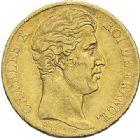 Photo numismatique  ARCHIVES VENTE 2012 MODERNES FRANÇAISES CHARLES X (16 septembre 1824-2 août 1830)  720- Lot de trois monnaies.
