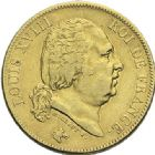 Photo numismatique  ARCHIVES VENTE 2012 MODERNES FRANÇAISES LOUIS XVIII, 2e restauration (8 juillet 1815-16 septembre 1824)  719- 40 francs or, Paris 1818.