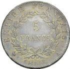 Photo numismatique  ARCHIVES VENTE 2012 MODERNES FRANÇAISES NAPOLEON Ier - Les Cents-Jours (20 mars au 22 juin 1815)  718- 5 francs, Paris 1815.