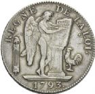 Photo numismatique  ARCHIVES VENTE 2012 MODERNES FRANÇAISES LA CONVENTION (22 septembre 1792 - 26 octobre 1795)  713- Ecu de six livres, frappé à Paris en 1793.