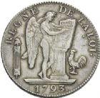 Photo numismatique  ARCHIVES VENTE 2012 MODERNES FRANÇAISES LA CONVENTION (22 septembre 1792 - 26 octobre 1795)  713- Ecu de six livres, frappé à Paris en 1793.