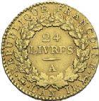 Photo numismatique  ARCHIVES VENTE 2012 MODERNES FRANÇAISES LA CONVENTION (22 septembre 1792 - 26 octobre 1795)  712- Louis d'or de 24 livres, frappé en 1793 à Paris.