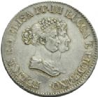 Photo numismatique  MONNAIES MODERNES FRANÇAISES ELISA BONAPARTE et FELICE BACIOCCHI, principauté de Lucques et Piombino (1805-1814)  5 franchi.