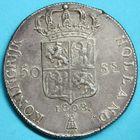 Photo numismatique  MONNAIES MODERNES FRANÇAISES LOUIS-NAPOLEON, roi de Hollande (1806-1810)  50 stuivers.
