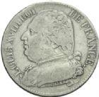 Photo numismatique  MONNAIES MODERNES FRANÇAISES LOUIS XVIII, 1ère restauration (3 mai 1814-20 mars 1815)  5 francs.