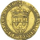 Photo numismatique  ARCHIVES VENTE 2012 ROYALES FRANCAISES CHARLES VI (16 septembre 1380-21 octobre 1422)  504- Ecu d'or de la 1ère émission (11 mars 1385).