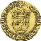 Photo numismatique  ARCHIVES VENTE 2012 ROYALES FRANCAISES CHARLES VI (16 septembre 1380-21 octobre 1422)  504- Ecu d'or de la 1ère émission (11 mars 1385).