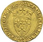 Photo numismatique  ARCHIVES VENTE 2012 ROYALES FRANCAISES CHARLES VI (16 septembre 1380-21 octobre 1422)  503- Ecu d'or de la 1ère émission (11 mars 1385).