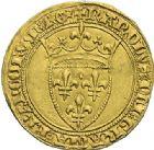Photo numismatique  ARCHIVES VENTE 2012 ROYALES FRANCAISES CHARLES VI (16 septembre 1380-21 octobre 1422)  503- Ecu d'or de la 1ère émission (11 mars 1385).