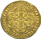 Photo numismatique  ARCHIVES VENTE 2012 ROYALES FRANCAISES CHARLES VI (16 septembre 1380-21 octobre 1422)  502- Ecu d'or de la 1ère émission (11 mars 1385), peut-être frappé à Toulouse.