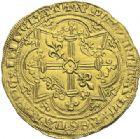 Photo numismatique  ARCHIVES VENTE 2012 ROYALES FRANCAISES CHARLES V (8 avril 1364-16 septembre 1380)  500- Franc d'or à pied (20 avril 1365).