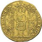 Photo numismatique  ARCHIVES VENTE 2012 ROYALES FRANCAISES CHARLES V (8 avril 1364-16 septembre 1380)  499- Franc d'or à pied (20 avril 1365).