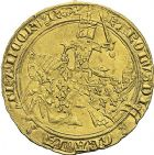 Photo numismatique  ARCHIVES VENTE 2012 ROYALES FRANCAISES CHARLES V (8 avril 1364-16 septembre 1380)  498- Franc d'or à cheval (3 septembre 1364).