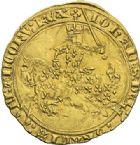 Photo numismatique  ARCHIVES VENTE 2012 ROYALES FRANCAISES JEAN II LE BON (22 août 1350-18 avril 1364)  493- Franc d'or à cheval (5 décembre 1360).