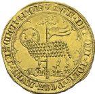 Photo numismatique  ARCHIVES VENTE 2012 ROYALES FRANCAISES JEAN II LE BON (22 août 1350-18 avril 1364)  487- Mouton d'or (17 janvier 1355).