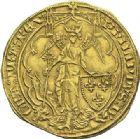Photo numismatique  ARCHIVES VENTE 2012 ROYALES FRANCAISES PHILIPPE VI DE VALOIS(1er avril 1328-22 août 1350)  482- Ange d'or de la 3ème émission (26 juin 1342).
