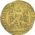 Photo numismatique  ARCHIVES VENTE 2012 ROYALES FRANCAISES PHILIPPE VI DE VALOIS(1er avril 1328-22 août 1350)  481- Double d'or de la 2ème émission (12 mai 1340).